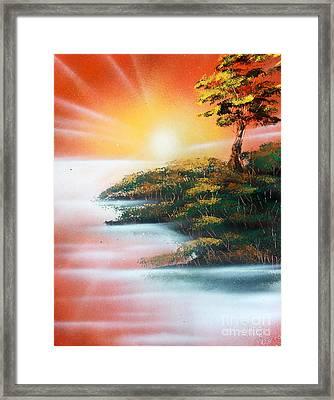 Sunset Framed Print by Greg Moores