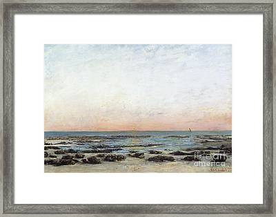 Sunset Framed Print by Gustave Courbet
