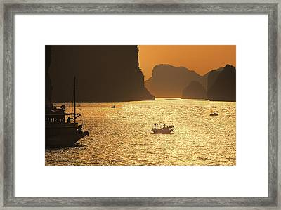 Sunset Ha Long Bay IIi Framed Print by Chuck Kuhn