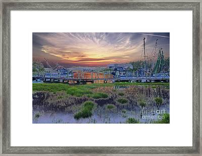 Sunset Harbor Dream Framed Print