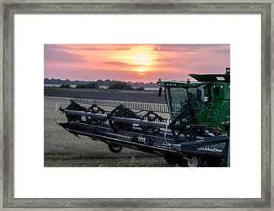 Sunset Harvest Framed Print by Lori Root