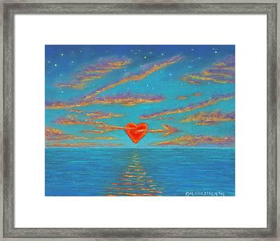 Sunset Heart 01 Framed Print