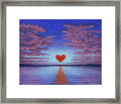 Sunset Heart 02 Framed Print