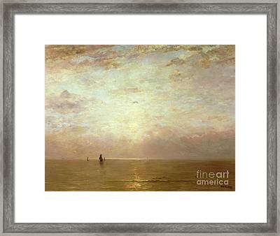 Sunset Framed Print by Hendrik William Mesdag