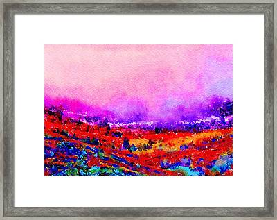 Framed Print featuring the painting Sunset Hills by Angela Treat Lyon