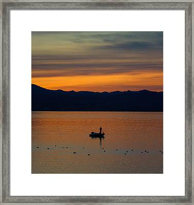 Sunset Hooker Framed Print