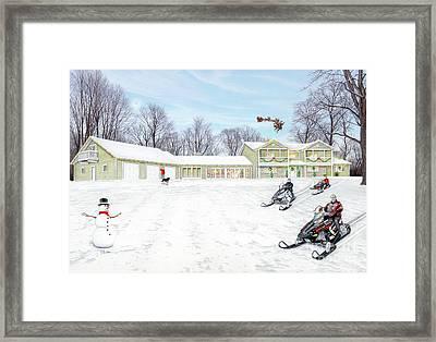 Sunset House At Christmas Framed Print by Albert Puskaric