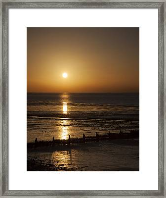 Sunset Hunstanton Framed Print