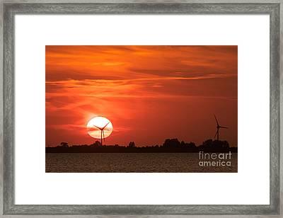 Sunset Husum Framed Print