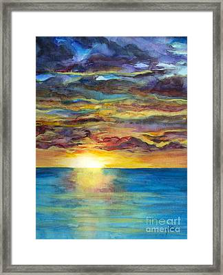 Framed Print featuring the painting Sunset II by Suzette Kallen