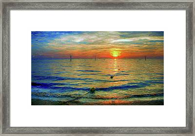 Sunset Impressions Framed Print