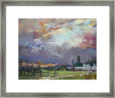 Sunset In A Troubled Weather Framed Print by Ylli Haruni