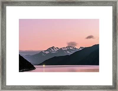 Sunset In Alaska Framed Print