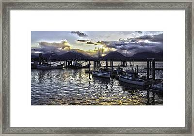 sunset In Alaska Framed Print