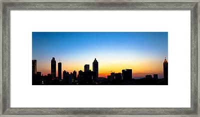 Sunset In Atlaanta Framed Print