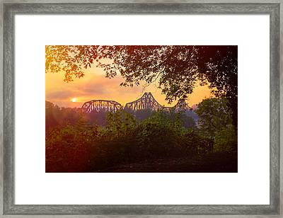 Sunset In Beaver Pa Framed Print
