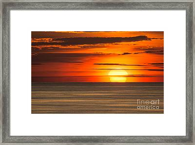 Sunset In Bermuda Framed Print