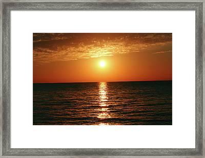 Sunset In Bimini Framed Print