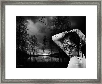 Sunset In Birdland Framed Print