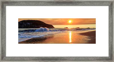 Framed Print featuring the photograph Sunset In Brookings by James Eddy