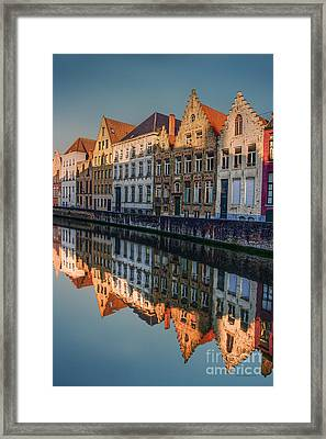 Sunset In Bruges Framed Print