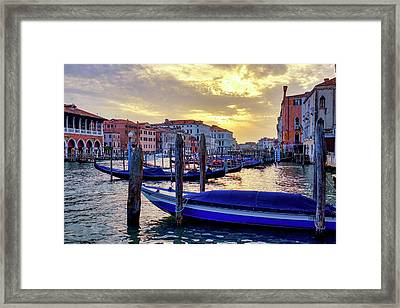 Framed Print featuring the photograph Sunset In Canal Grande by Fabrizio Troiani