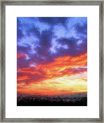Sunset In Carolina Framed Print
