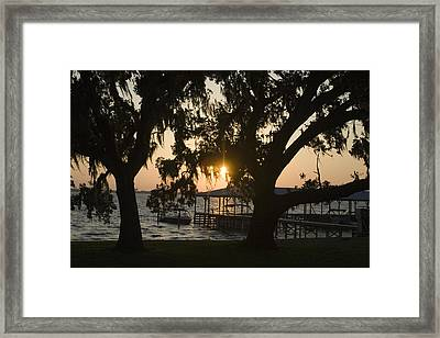 Sunset In Central Florida Framed Print by Christopher Purcell