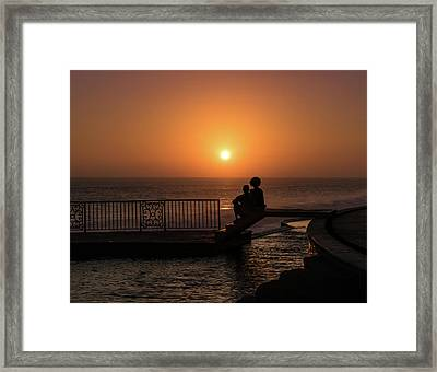 Sunset In Cerritos Framed Print