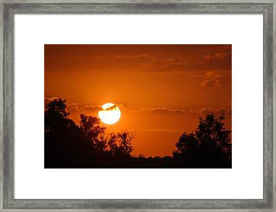 Framed Print featuring the photograph Sunset In Charleston by Donna Bentley