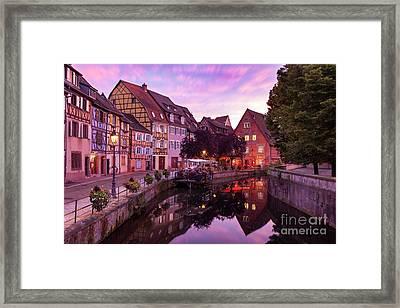 Sunset In Colmar Framed Print
