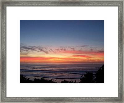 Sunset In December Framed Print