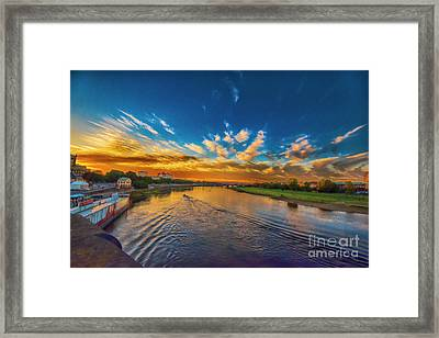 Sunset In Dresden Framed Print