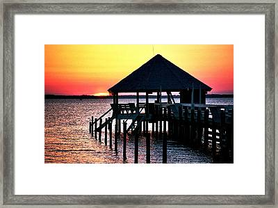 Sunset In Duck Framed Print