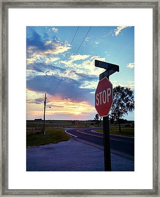 Sunset In Effingham Fair Framed Print by Dustin Soph