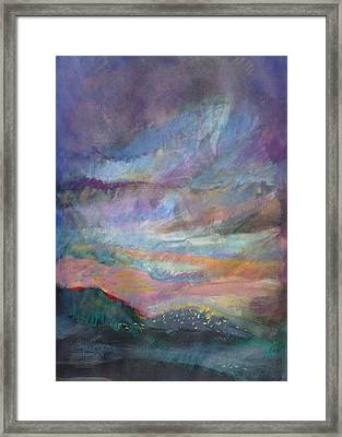 Sunset In Efrat Framed Print by Bryna La