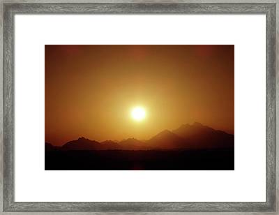 Sunset In Egypt 7 Framed Print