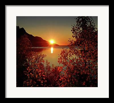 Sunset In Norway Framed Prints