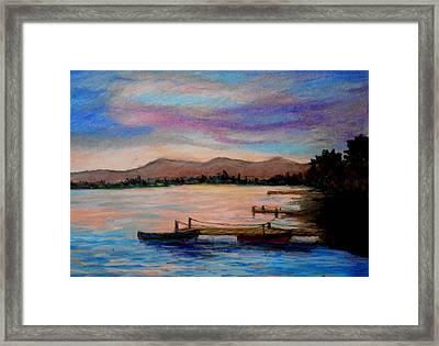 Sunset In Evia Framed Print
