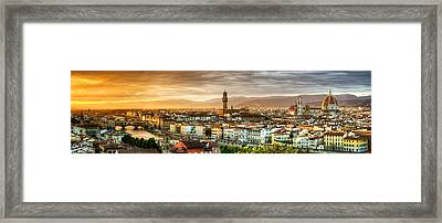 Sunset In Florence Framed Print