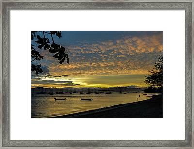 Sunset In Florianopolis Framed Print