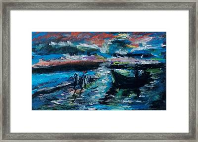 Sunset In French Riviera Framed Print
