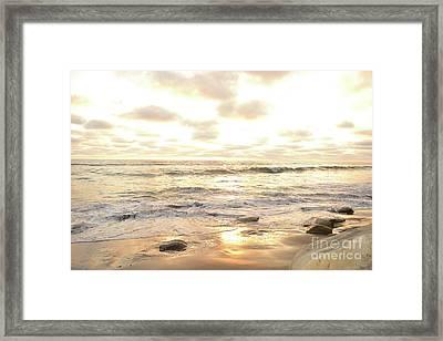 Sunset In Golden Tones Torrey Pines Natural Preserves #1 Framed Print