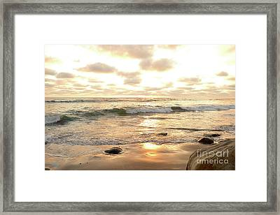 Sunset In Golden Tones Torrey Pines Natural Preserves #2 Framed Print