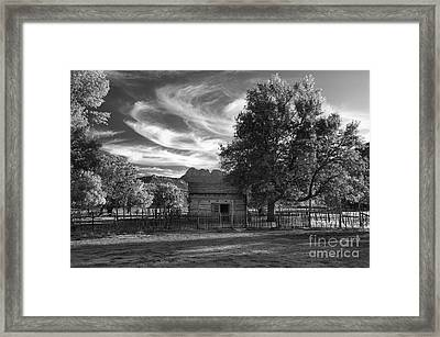 Sunset In Grafton Ghost Town Framed Print by Sandra Bronstein