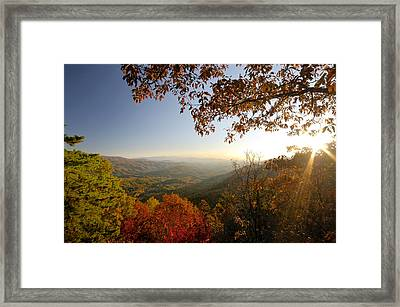 Sunset In Great Smoky Mountains Framed Print by Darrell Young