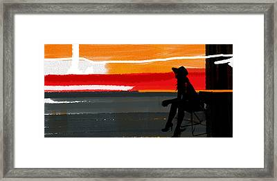 Sunset In Hamptons Framed Print