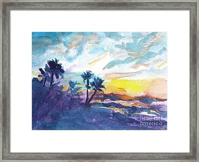 Sunset In Hawaii Framed Print by Jan Bennicoff