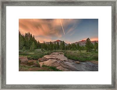 Sunset In High Sierra Framed Print