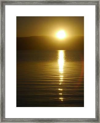Sunset In January Framed Print